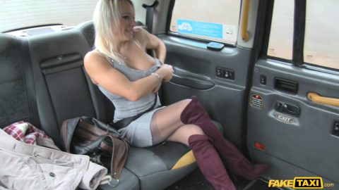Boots tits big Fake and taxi knee arse high