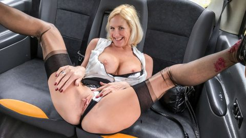Fake taxi serial squirting from busty blonde amateur 8